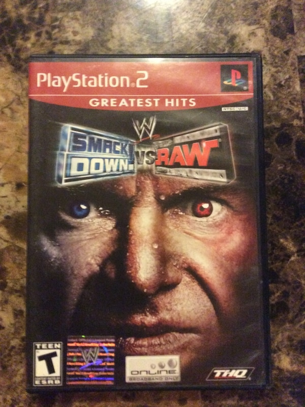 Used Smack Down VS Raw 2010 PS3 game case for sale in