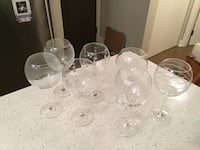 Mikasa set of 7 wine glasses  3733 km