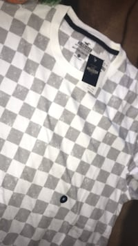 black and white checkered textile