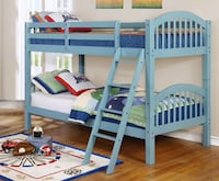 Ryder Light Blue Twin over Twin Bunk Bed | 9082 Furniture  Houston, 77036