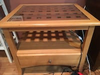 2- glass top wood end table Beltsville, 20705