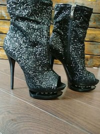 Sequin costume peptoe boots London, N6B