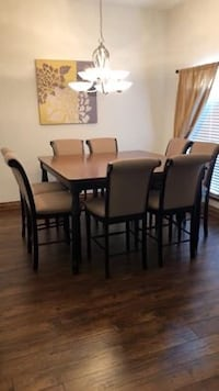 Pub Style Dining Table w/ 8 Chairs