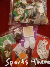 Sports themed puffy stickers set