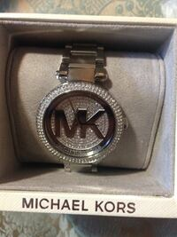 round silver Michael Kors analog watch with link bracelet Toronto