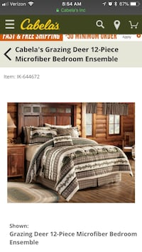 Brown and white bed sheet set Rockville, 20853