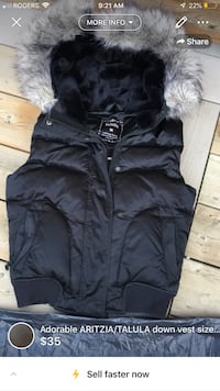 Adorable ARITZIA/TALULA down vest size M-fitted fits like a XS/S London, N5W 6E2