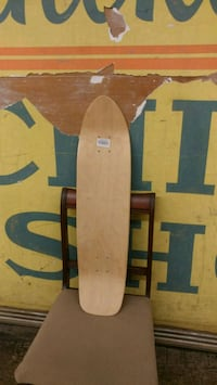 Wood skateboard deck new natural wood finish .5 x  Orange, 92866