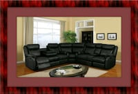Cshape sectional black bonded leather  Prince George's County
