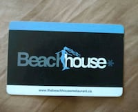 $100 Beach House Restaurant Gift Card Vancouver, V6B 1G4