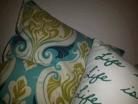 white, green, and blue floral throw pillow Surrey, V4A 1G6