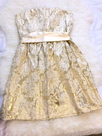 White gold dress (extra small) Brampton