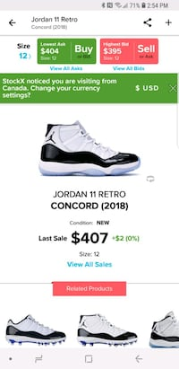 Jordan 11(Concord)sz.12 Richmond