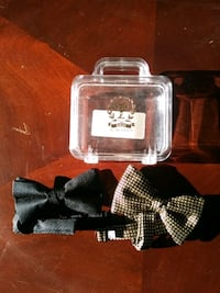 2 Dion silk bow ties