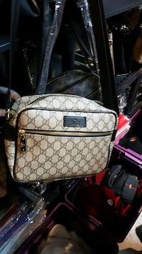 gray and black leather Gucci backpack Toronto, M6R