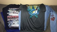 Lot of 4 fishing shirts Fort Lauderdale, 33316