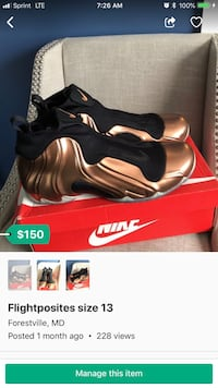 pair of black Nike Air Foamposite Pro with box District Heights, 20747