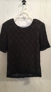 "Womans ""Hanky Panky"" Black and gray scoop-neck shirt Tuscaloosa, 35405"