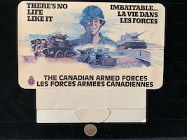 Canadian Armed Forces Calendar - There's No Life Like It - 1981