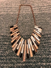 Black, Gold and Off-White Statement Necklace Centreville, 20120