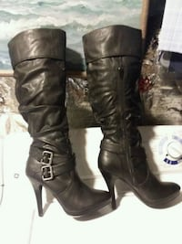 Style & Company size 8 1/2 black knee- high boots Crofton, 21114