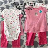 baby's four assorted onesies