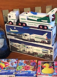 white and blue Hess truck toy Westminster, 21157