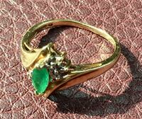 10K Gold and Emerald