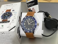 iTECH Duo Analog Smartwatch: Brown Strap with black Case, New in box Toronto