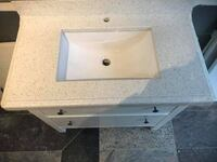 New White quartz vanity top with ikea base Gaithersburg