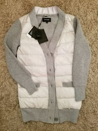 gray and white button up jacket Toronto, M2N 1L8