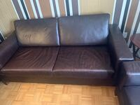 LEATHER  3 PICE SOFA Condition good no stain no rip no pet. Vaughan, L6A 4B4