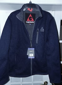 GERRY MEN'S TEXTURED FABRIC ,FLEECE LINED JACKET SIZE LARGE Columbus