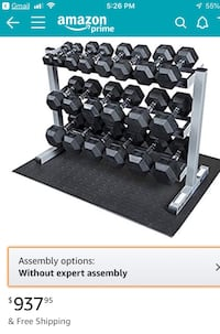 DUMBBELL WEIGHT SET WITH RACK Alexandria, 22302