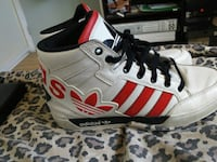 pair of white-and-red Adidas sneakers Barrie, L4N 6X8