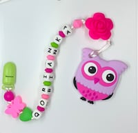 Owl baby teether and pacifier holder  Richmond, V6Y 3A4