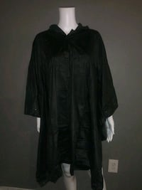 ***UNISEX~ONE SIZE ADULT BLACK RAIN PONCHO!*** Dallas