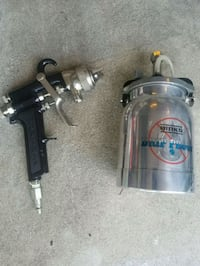 Binks spray gun and can  Montreal, H8Y 1J5