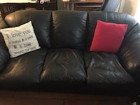Leather Sofa and Arm Chairs (2) Crofton