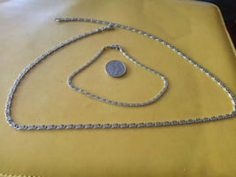 925 Silver chain and bracelet