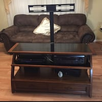 black wooden TV stand with flat screen television Nashville, 37013