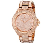 round gold analog watch with link bracelet Oxon Hill, 20744