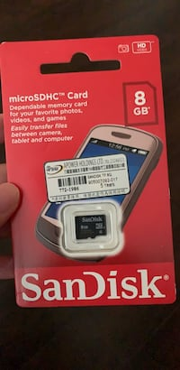 Brand new Sandisk micro SD card 8GB Vancouver, V5Y 3N7