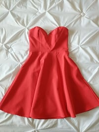Strapless dress - coral