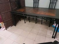 rectangular brown tile dining table Toronto, M9V 2W3