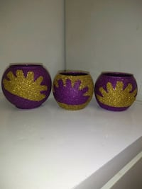 three red and one purple floral ceramic bowls Hyattsville, 20783