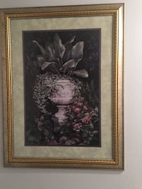 brown wooden framed painting of flowers McAllen, 78503