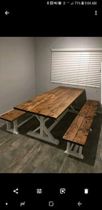 Dining table with bench seating Santee