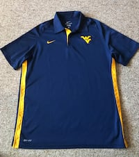 Nike Dri Fit Team Issue Size Large (L) WVU Mountaineers Polo Shirt Mint Condition