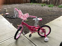 "Disney miney mouse bicycle 16"" brand new for girls with one year warranty, bill will be provided along Surrey, V3V 2H9"